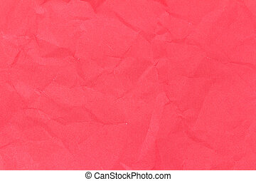 red crumpled paper texture background