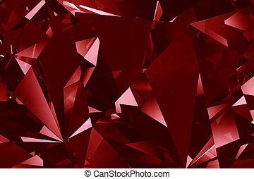 Red crystal facet background