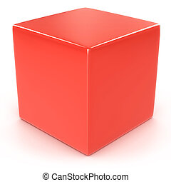 red cube 3d illustration