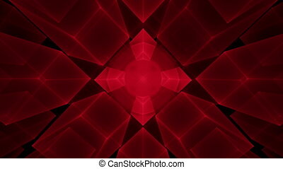 Red Cubes Rotating, Perspective - Abstract surrealistic...