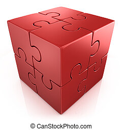 red cubical puzzle