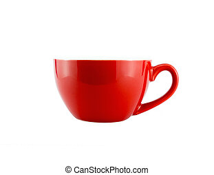 Red Cup Isolated on White background, With clipping path