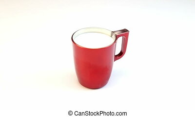 Red cup of milk, video