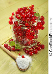red currant and sugar