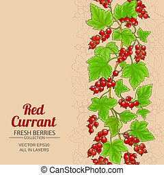 red currant background - red currant pattern on color...
