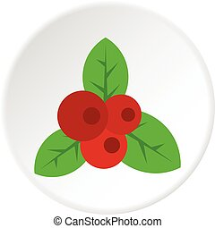 Red currant icon circle