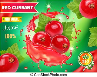Red currant juice advertising package design - Red currant...