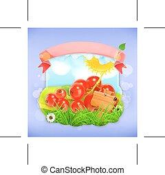 Red currant label design - Red currant, label design
