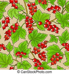 red currant pattern on color    background