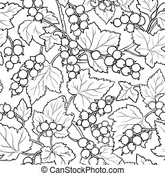 red currant pattern on white background