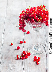 red currants in a glass