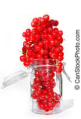 Red currants in jar