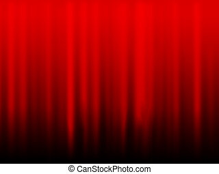 Red curtain - 2d illustration of a red curtain as a...