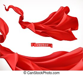 Red curtain. 3d realistic vector
