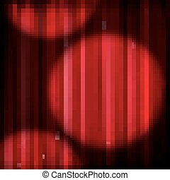 Red curtain and spot light. EPS 10