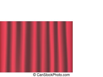 red curtain background - vector illustration