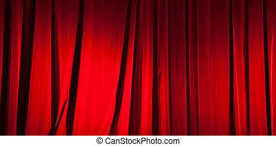 Red curtain banner