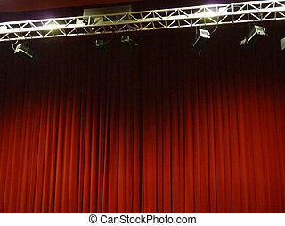 Red curtain - Beautiful red stage curtain, background ...