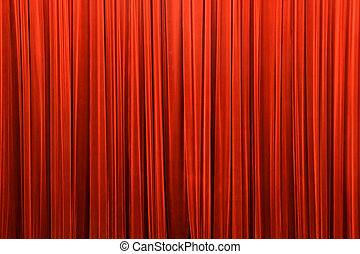 curtain - red curtain detail, removed noise, saturated, ...