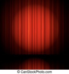 Red curtain from the theatre