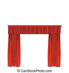 red curtain - vector illustration of red curtain under the...