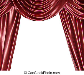 curtain - Red curtain isolated on white...