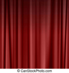 large red theatre curtain as a background