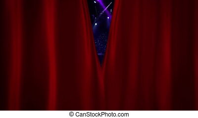 Red Curtain Opening at concert spotlight