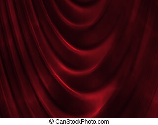 Red curtain - background abstract