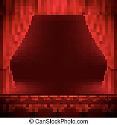 Red curtain template. EPS 10
