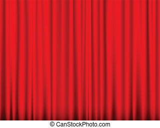 red curtain - Close view of a red curtain. Vector...