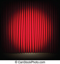 red curtain - Seamless red curtain with stage. Image...