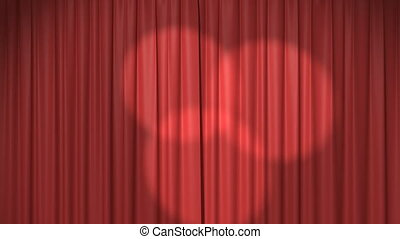 Red Curtain with Spotlights, Beautiful Seamless Looped 3d ...