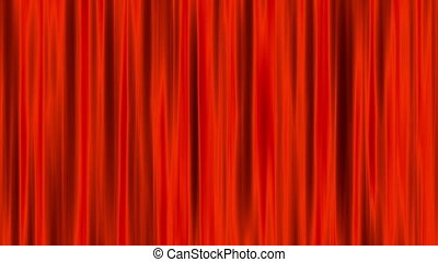 Red Curtains Animation Loop 3d render