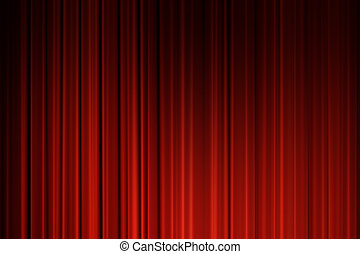 Red Curtains background. Movie curtains background