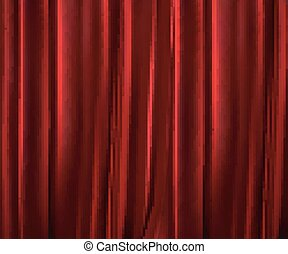 Red curtains background.