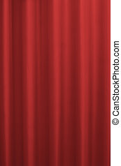 Red Curtains in saturated color - Red Curtains. Decorative...