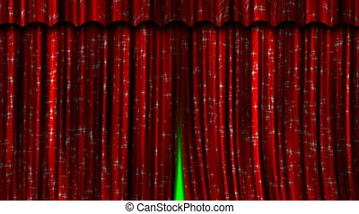 Red Curtains Open and Close.