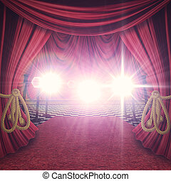 Red Curtains Stage
