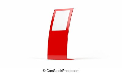 Red curved advertising panel