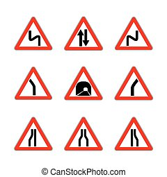 Red Dangerous signs