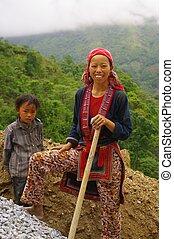 Red Dao ethnic female
