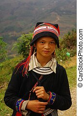 Red Dao ethnic girl