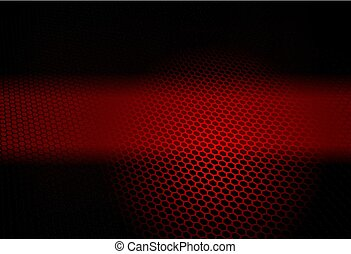 Red dark abstract geometric background with lattice silhouette