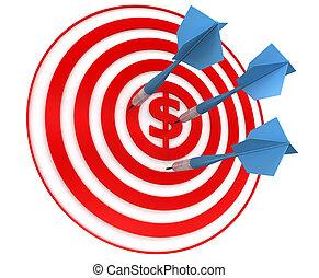 Red dart  target