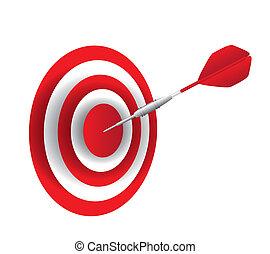 dart with dartboard
