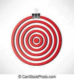 Red darts target