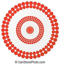 Red darts target - vector aim illustration