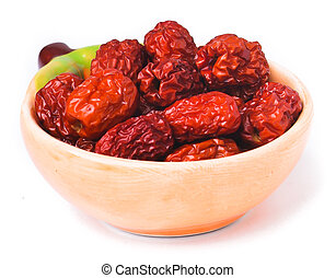 red date isolated on background