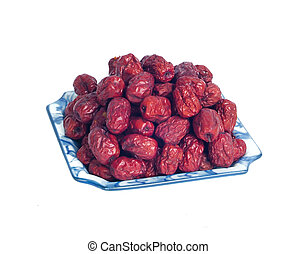 red date isolated on white background
